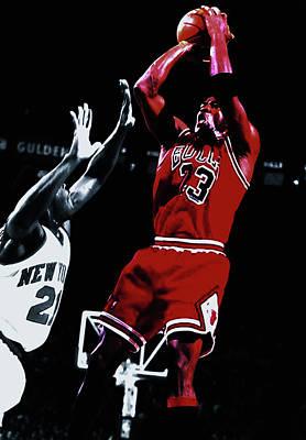 Michael Jordan Fade Away Art Print by Brian Reaves
