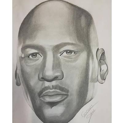 Jordan Drawing - Michael Jordan by Garvens Sidrac
