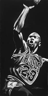 Sweating Drawing - Michael Jordan  by Don Medina