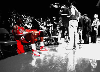 Michael Jordan Ready To Go II Art Print
