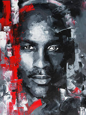 Painting - Michael Jordan by Richard Day