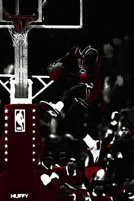 Michael Jordan Rise And Shine Art Print by Brian Reaves