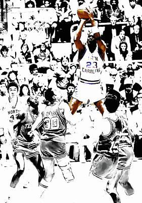 Michael Jordan Rises                         Art Print