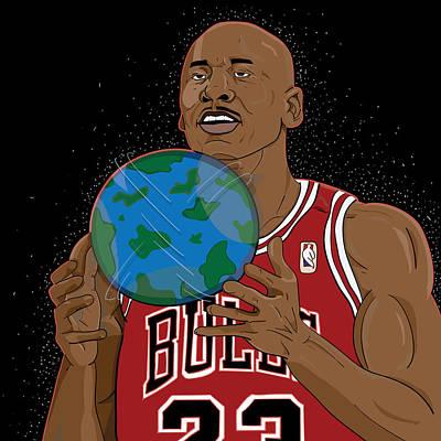 Michael Jordan  Art Print by Shaad Huron