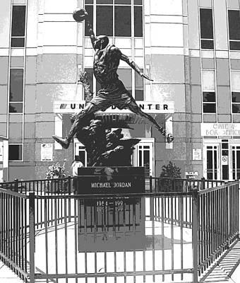 Mj Photograph - Michael Jordan Statue by Amber Roth