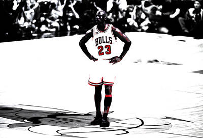 Michael Jordan The One Man Show Art Print