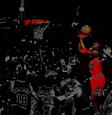 Michael Jordan Two More Art Print