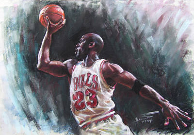 Bull Pastel - Michael Jordan by Ylli Haruni
