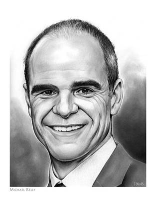 Michael Drawing - Michael Kelly by Greg Joens