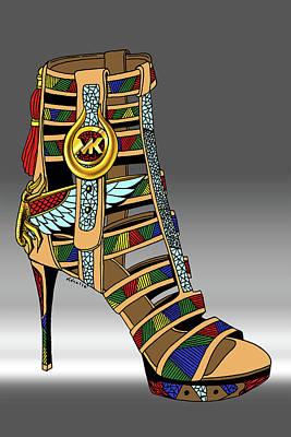 Drawing - Michael Kors Shoe Illustration No. 3 by Kenal Louis