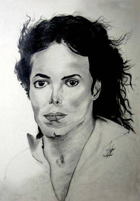 Mj Drawing - Michael by LeeAnn Alexander
