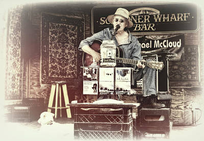 Photograph - Michael Mccloud, Schooner Wharf Bar, Key West, Florida by Kay Brewer