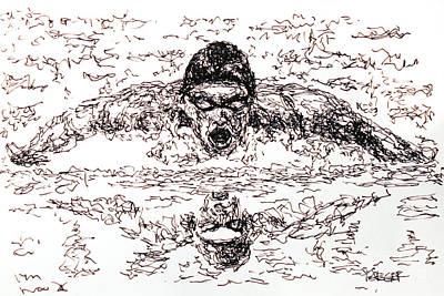 Michael Phelps Art Print by Robert Yaeger