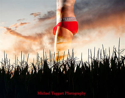 Art Print featuring the photograph Michael Phelps Sunset by Michael Taggart