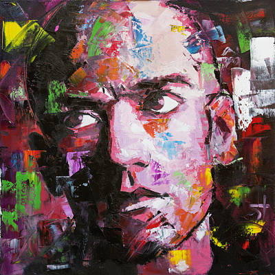 Rem Painting - Michael Stipe by Richard Day
