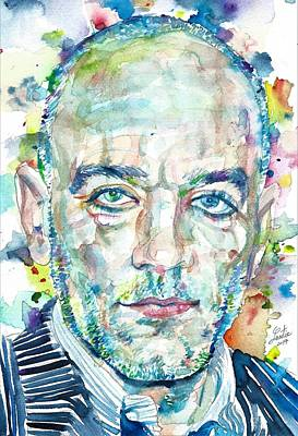 Painting - Michael Stipe - Watercolor Portrait by Fabrizio Cassetta