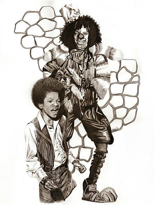 Afro Drawing - Michael by Terri Meredith