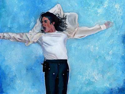 Record Producer Painting - Michael by Vel Verrept