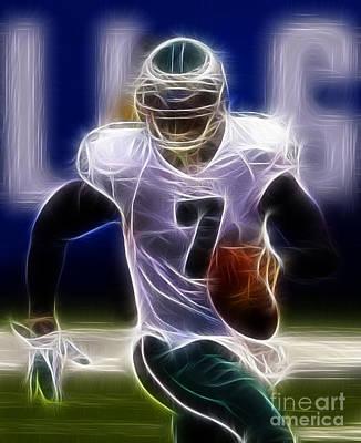 Michael Vick - Philadelphia Eagles Quarterback Art Print by Paul Ward