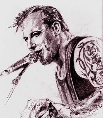 Drawing - Michael-volbeat by Toon De Zwart