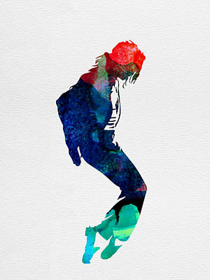 Michael Jackson Painting - Michael Watercolor by Naxart Studio