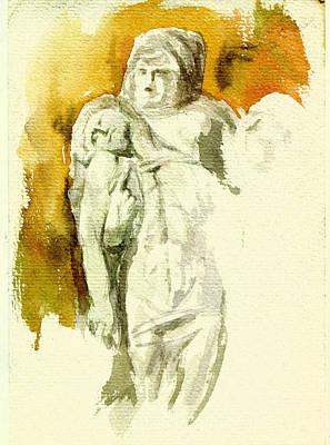 Michaelangelos Palestrina Pieta Art Print by Andrew Taylor
