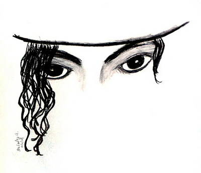 Michael's Eyes Art Print by Melody Anderson