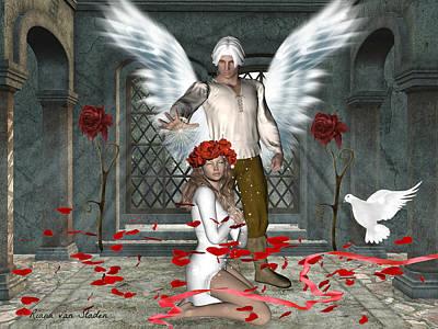 Digital Art - Archangel Michael's Love by Riana Van Staden