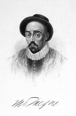 Photograph - Michel Eyquem De Montaigne by Granger