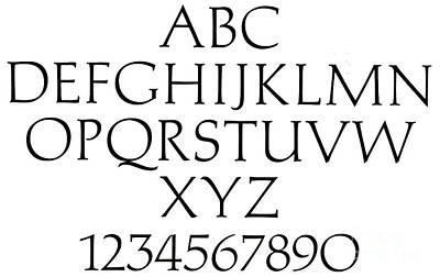 Typographic Drawing - Michelangelo Alphabet by Italian School