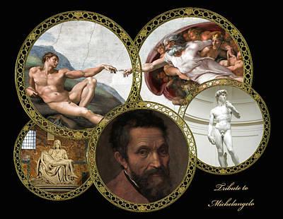 Pieta Digital Art - Michelangelo - Artist by Mary Stanford