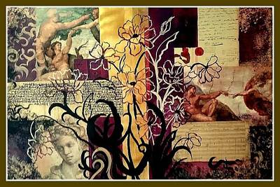 Painting - Michelangelo Collage by Patricia Rachidi