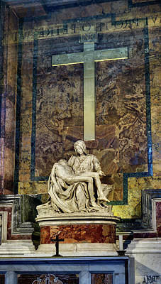 Photograph - Michelangelo La Pieta Panorama by Weston Westmoreland