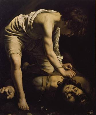 Caravaggio Painting - Michelangelo Merisi by David Victorious
