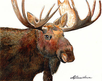 Painting - Michelangelo Moose by LeAnne Sowa