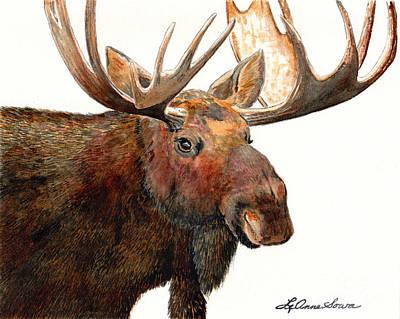 Painting - Michelangelo Moose by LeAnne Sowa