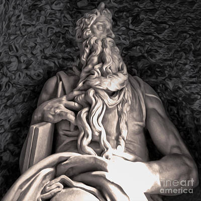 Photograph - Michelangelo Moses by Gregory Dyer