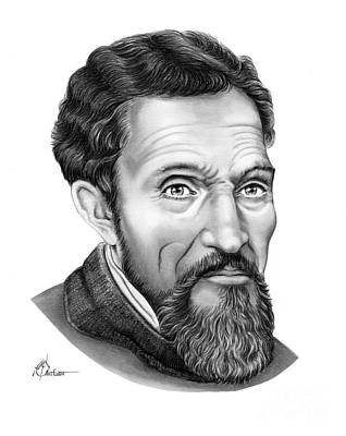 Drawing - Michelangelo by Murphy Elliott