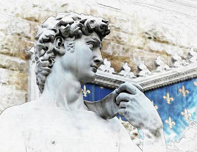 Michelangelo's David - By Diana Van Art Print