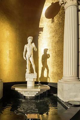 Photograph - Michelangelos David Gracing An Opulent Niche Fountain by Georgia Mizuleva