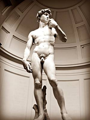 Michaelangelos David Photograph - Michelangelo's David by Mary Pille