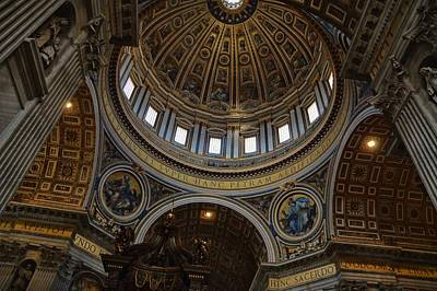 Photograph - Michelangelo's Vatican Dome by JAMART Photography