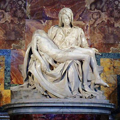 Photograph - Michelangelo's Pieta by Ellen Henneke