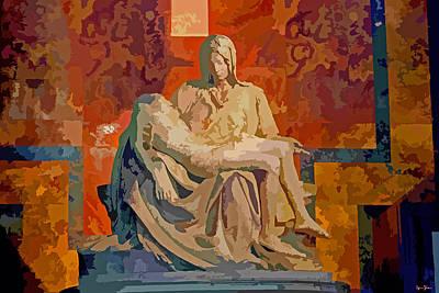 Pieta Digital Art - Michelangelo's Pieta, Vatican by Brian Shaw
