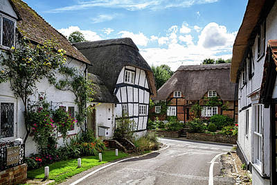 Photograph - Micheldever Cottages Hampshire by Shirley Mitchell