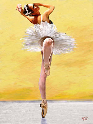 Ballet Painting - Michele Wiles by James Shepherd