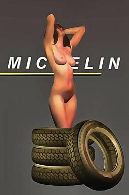 Painting - Michelin Pneus by Jan Keteleer