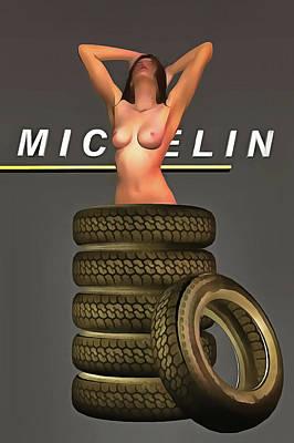 Painting - Michelin Tires by Jan Keteleer