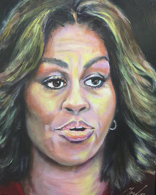 Michelle Obama Painting - Michelle by Brenda Gordon