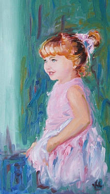 Little Ballerina Painting - Michelle by KC Chapman